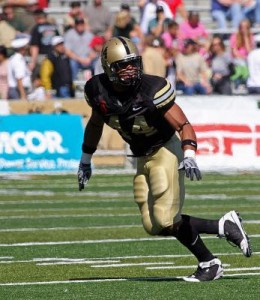 Josh McNary racked up 12 sacks this yewar to set a West Point single-season record. (Army photo)